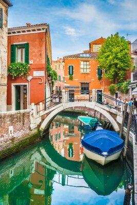 Adesivo Vista della cartolina di Venezia, Italia