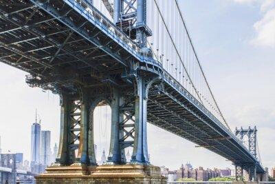 Adesivo Vista di New York City, Stati Uniti d'America. Manhattan Bridge.