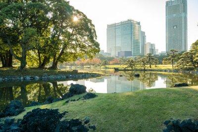 Adesivo Vista di Tokyo paesaggio urbano con parco
