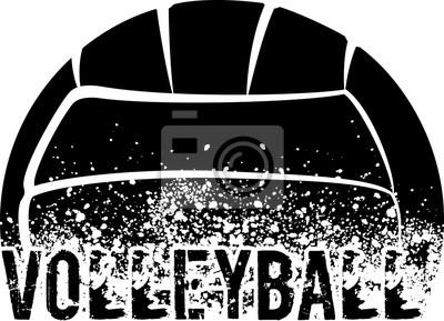 Adesivo Volleyball Dark Grunge