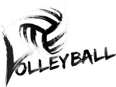 Adesivo Volleyball Grunge Streaks