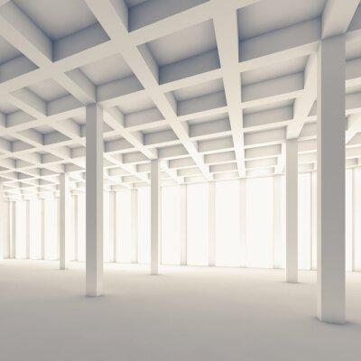 Adesivo Vuoto camera astratta, illustrazione piazza 3d