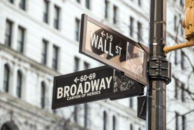 Adesivo Wall street segno a New York