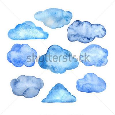 Adesivo Watercolor clouds set