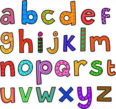 Adesivo Whimsical Minuscolo Alfabeto