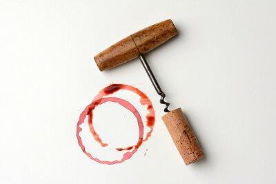 Adesivo Wine Stain e antico Cavatappi