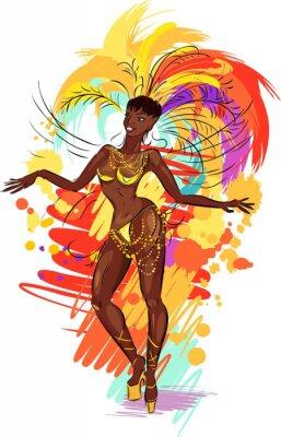 Adesivo Woman samba dancer