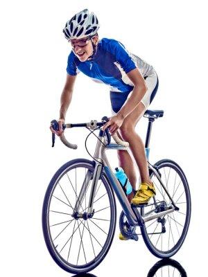 Adesivo woman triathlon ironman athlete cyclist cycling