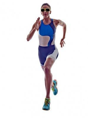 Adesivo woman triathlon ironman runner running athlete