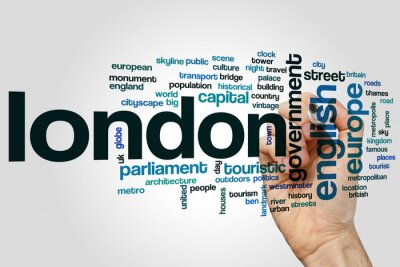 Adesivo word cloud Londra