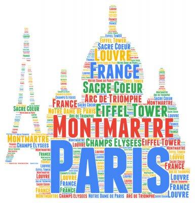 Adesivo word cloud Paris