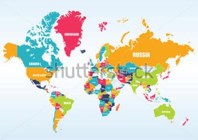 Adesivo World map-countries