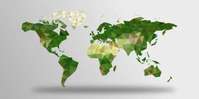 Adesivo World Map poligoni