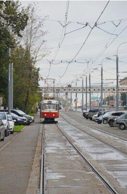Adesivo Трамвай в начале Волоколамского шоссе (Москва)