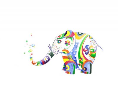 Adesivo Цветной слонёнок