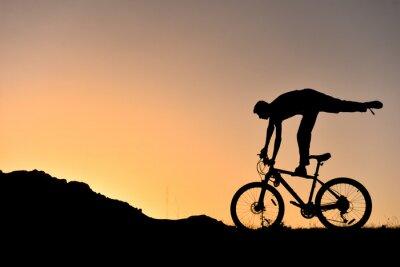 Adesivo sıradışı bisikletçi siluet