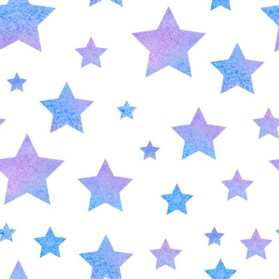 Adesivo watercolor сute seamless pattern night sky for the textile fabric or wallpaper.