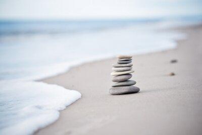Adesivo Yoga - Wellness - Steine am Nordseestrand