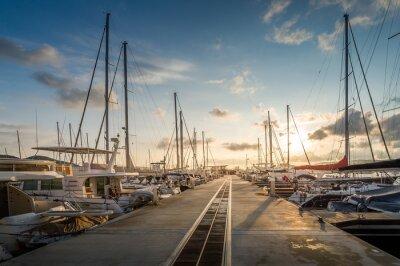 Adesivo Yacht marina alba