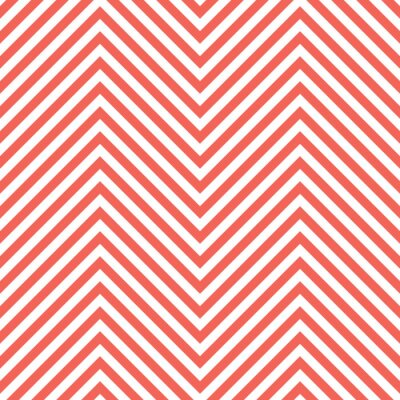 Adesivo Zigzag Red Pattern. Wave Background in Vector