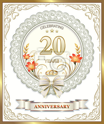 20 Anniversario Di Matrimonio.20 Anniversario Di Matrimonio In Una Splendida Cornice Carta Da