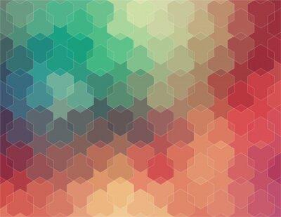Carta da parati 2D astratto geometrica sfondo colorato