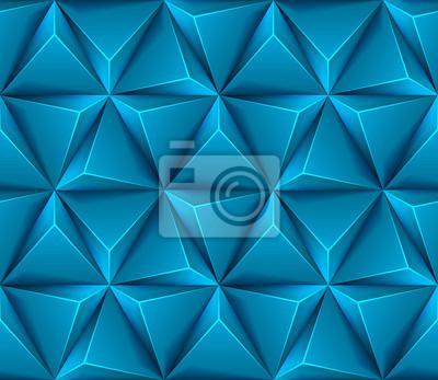3d Astratto Sfondo Trasparente Con Triangoli Blu Carta Da Parati