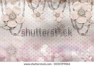 Carta da parati 3d flower wallpaper 3d background- Illustration