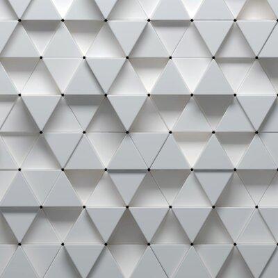 Carta da parati 3d illustrazione del disegno geometrico