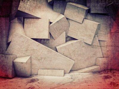 Carta da parati 3d muro geometrica