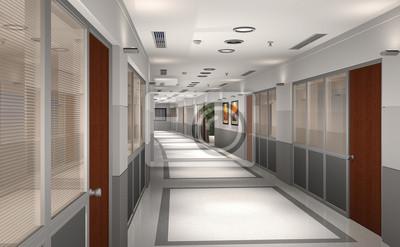 Ufficio Moderno Di Lusso : D rendering di moderno albergo o corridoio di ufficio carta da