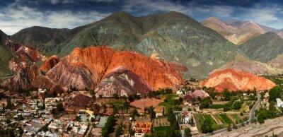 Carta da parati 7 colori della montagna