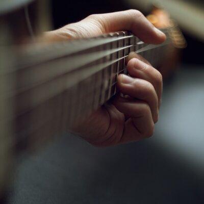 Carta da parati a suonare la chitarra elettrica