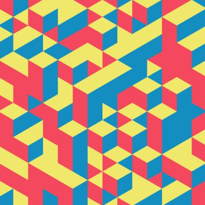 Carta da parati Abstract 3d geometrico sfondo colorato.