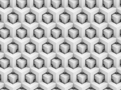 Carta da parati Abstract 3D poligonale seamless pattern - geometrico struttura scatolare sfondo