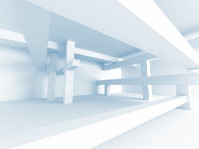 Carta da parati Abstract Architecture Concept. Modern Building Interior Design