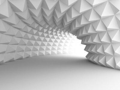 Carta da parati Abstract Architecture Tunnel Con Sfondo chiaro