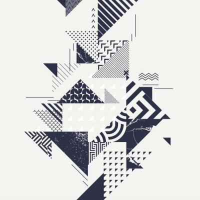 Carta da parati Abstract background arte con elementi geometrici