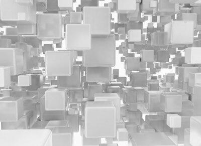 Carta da parati Abstract background da cubi metallici