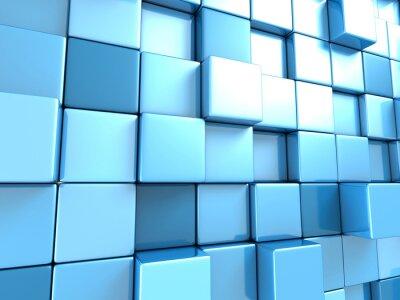 Carta da parati Abstract Blue cubetti di sfondo per il desktop