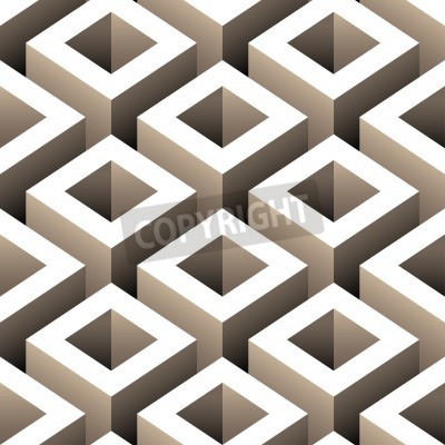 Carta da parati abstract boxes 3d seamless pattern
