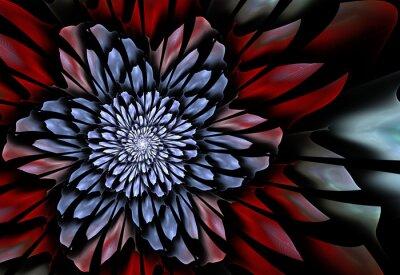 Carta da parati Abstract frattale fiore
