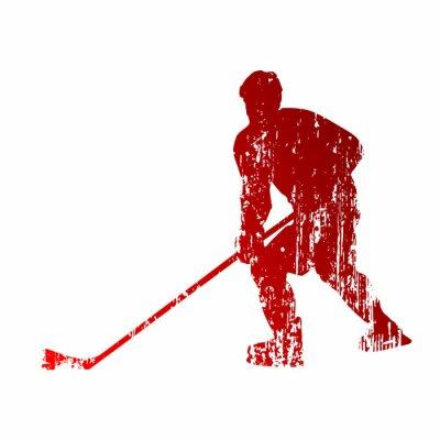 Carta da parati Abstract hockey player