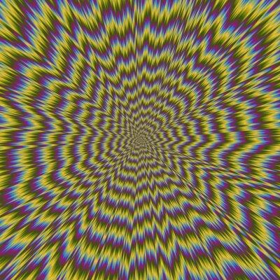 Carta da parati Abstract illustrazione colorata del modello luminoso ipnotico