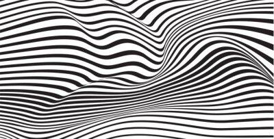 Carta da parati abstract mobious wave vector vibrant optical background
