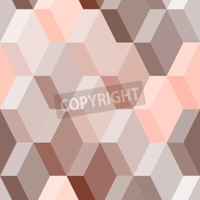 Carta da parati Abstract pattern senza soluzione di continuità geometrica in rosa e marrone, vettore