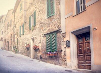 Carta da parati Accattivante strada della vecchia Montepulciano