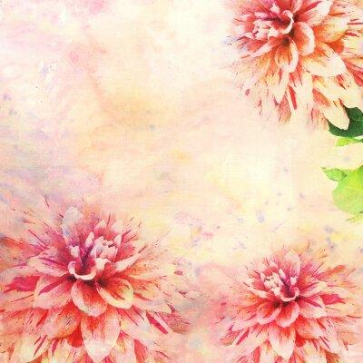 Carta da parati Acquarello illustrazione di tema floreale