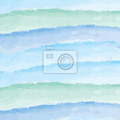 Carta Da Parati Acquerello Sfondo Astratto Azzurro E Colore Verde