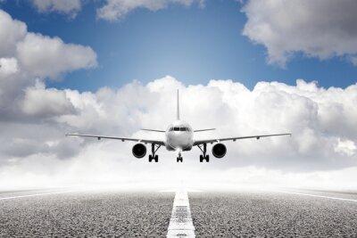 Carta da parati aereo in decollo dall'aeroporto